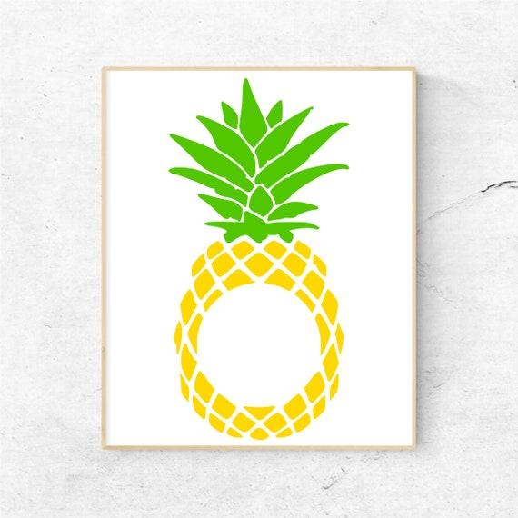 Download Pineapple Monogram Svg Pineapple Svg Summer Svg Beach Svg ...