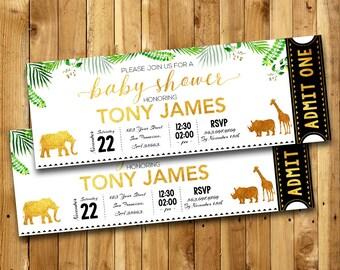 Safari baby shower invitation etsy gold safari baby shower invitation gold safari baby shower birthday party gold safari invite gold safari baby shower thank you card sg5 filmwisefo
