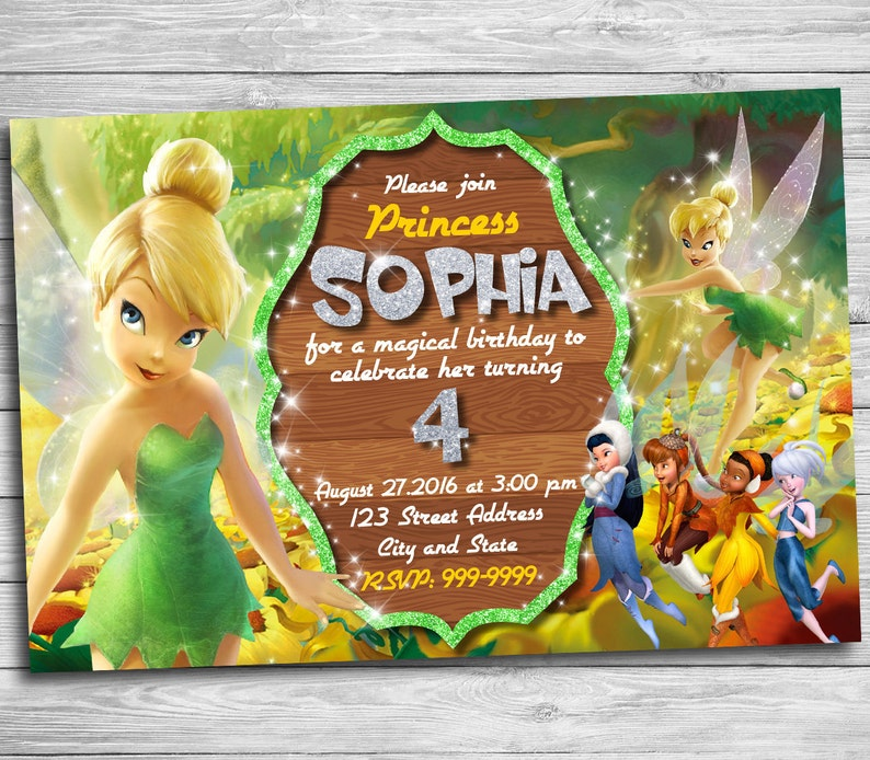 Tinkerbell Invitation For Tinkerbell Birthday Party Etsy