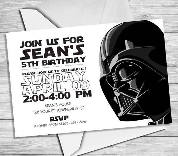 photo relating to Star Wars Birthday Invitations Printable named Star Wars Invitation - Star Wars Get together Invitation- Star Wars Birthday Celebration Invite - Star Wars Bash Printable- Darth Vader Invitation SW_3