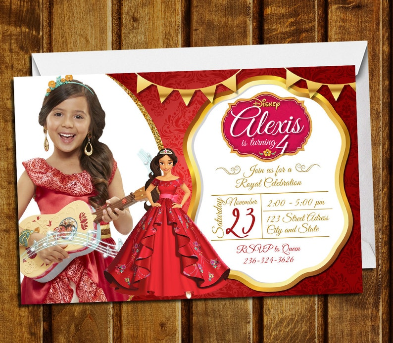 Princess Elena Of Avalor Invitation
