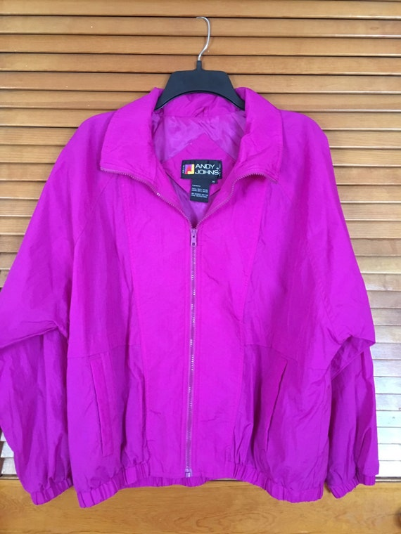 Vintage Andy Johns Windbreaker gorgeous color size