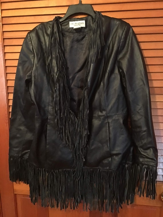 Vintage Leather Fringe Jacket - image 1