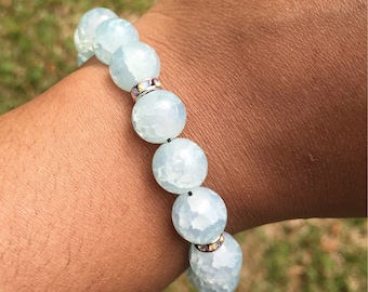 Summer Ice Gemstone Bracelet | Stackable Bracelet | Statement Jewelry | Layering Bracelet