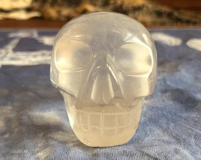 Milky Quartz Skull #3
