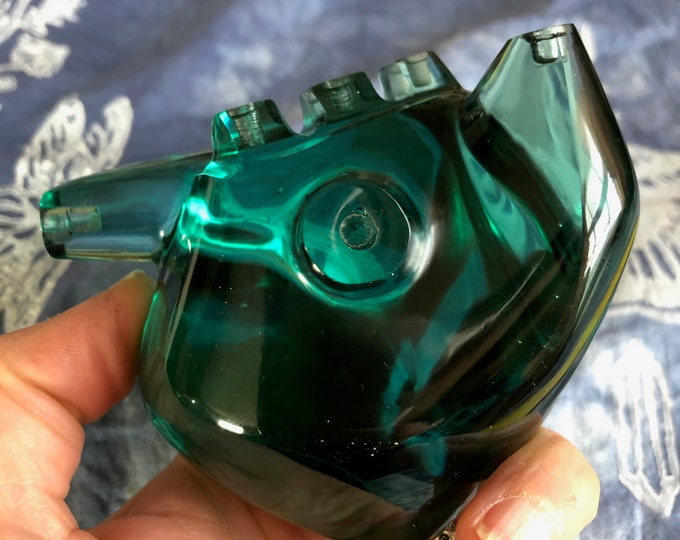 Blue/Green Obsidian Carved Anatomical Heart