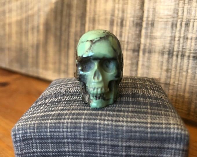 Peacock Variscite Skull