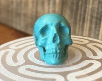 Small Fox Turquoise Skull