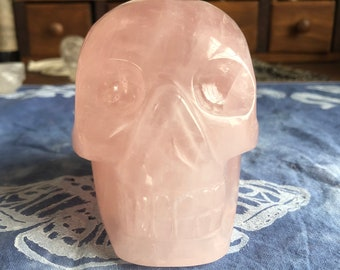 Brazilian Rose Quartz Skull