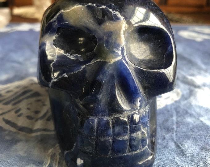 Brazilian Sodalite Quartz Skull