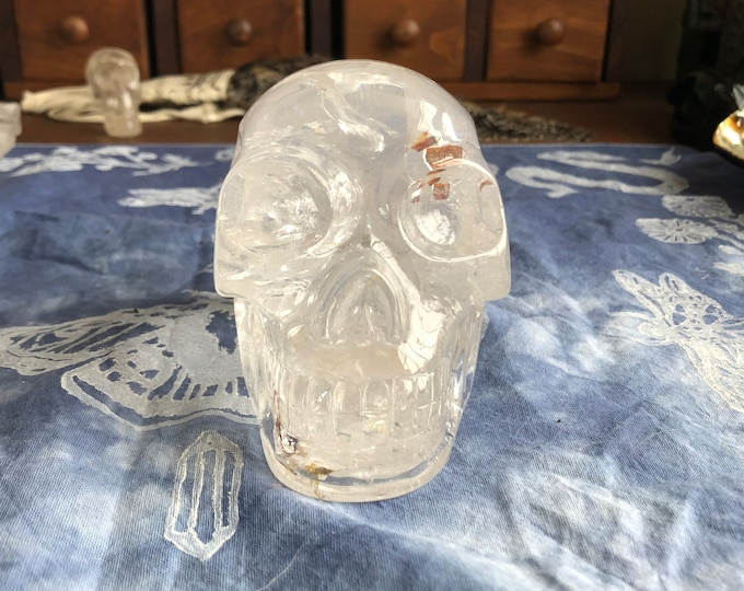 Walmere Pyrite in Quartz Skull