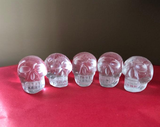 Small Quartz Skulls Brazilian Carve