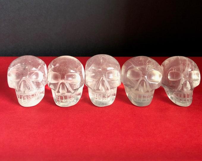 Small-ish Quartz Skulls Brazilian Carve