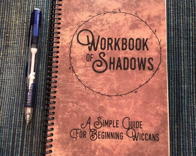 Workbook of Shadows, Wiccan Book for Beginners, A Beginner Witches Book, For Wiccan Basics, Beginning Witchcraft, Wicca for Beginners