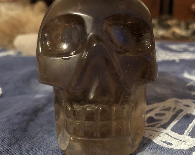 Brazilian Smoky Quartz Skull