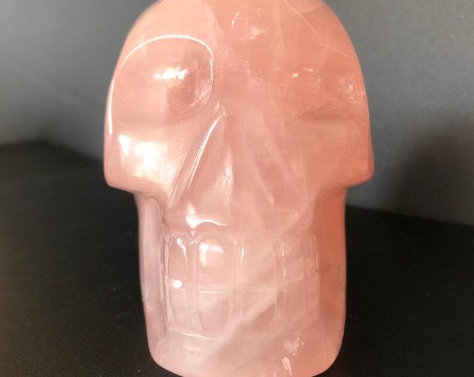 Rose Quartz Skull, Brazilian Carve
