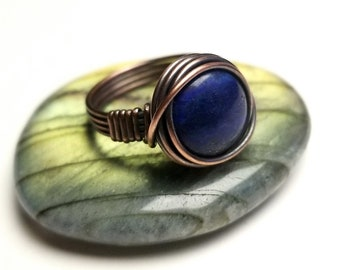 Simple Wire Wrap Ring Tutorial   Easy Wire Wrap Cabochon Ring Tutorial   By Bobi Jo Gilman