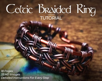 Celtic Knot Ring Wire Wrap Tutorial DIY PDF Book Lesson How to Make Step by Step Pattern Weave Weaving Weaved Wrapping Wrapped