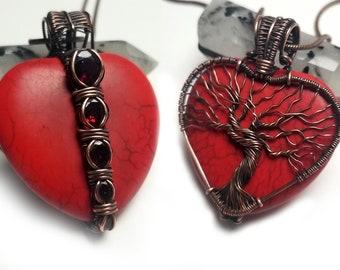 Wire Wrap Heart Pendant Tutorial -  by Bobi Jo Gilman