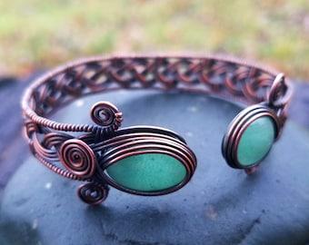 Wire wrap tutorial   Celtic knot viking braid bracelet cuff bangle   By Bobi Jo Gilman