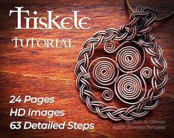 Celtic Triskele Pendant Wire Wrap Tutorial Pdf - How to make a wire wrapped triskelion pendant