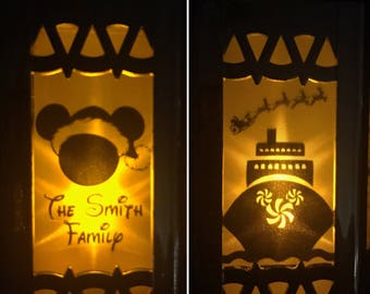Disney MerryTime Cruise Inspired Battery-Operated Plastic mini Lantern. Customizable.