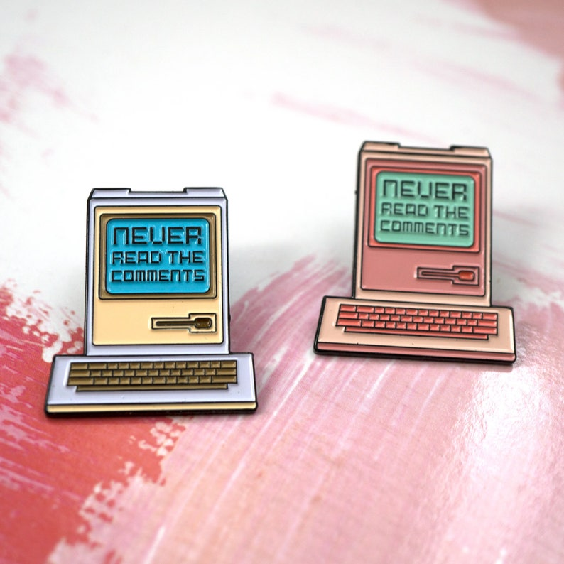 Never Read The Comments Enamel Pin image 0