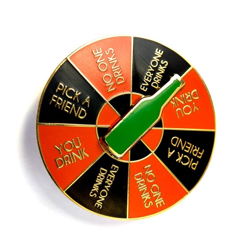Drinking Game Spinner Enamel Pin image 0