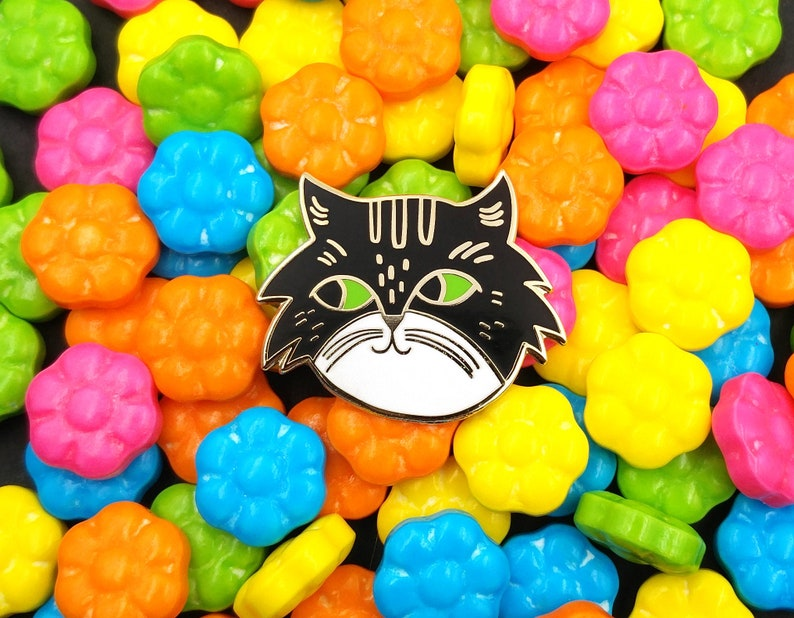 Cat Lady Cat Collector Enamel Pin 3 different colors image 0