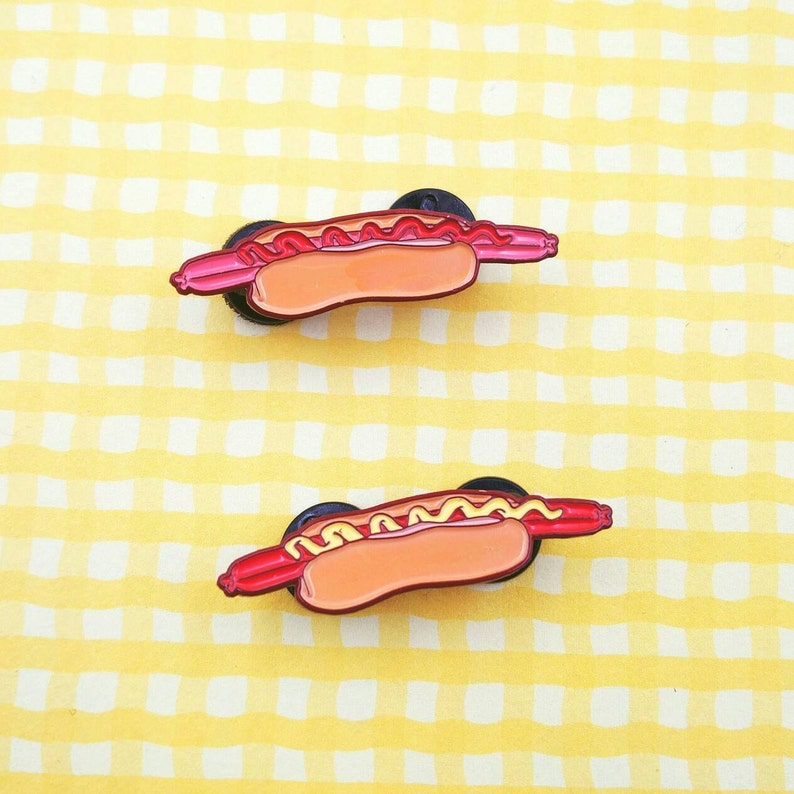 Too Long Footlong Enamel Pin image 0