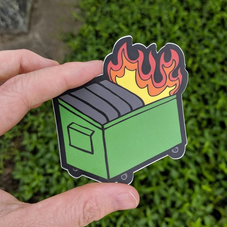 Dumpster Fire Vinyl Weather-Proof Sticker image 0