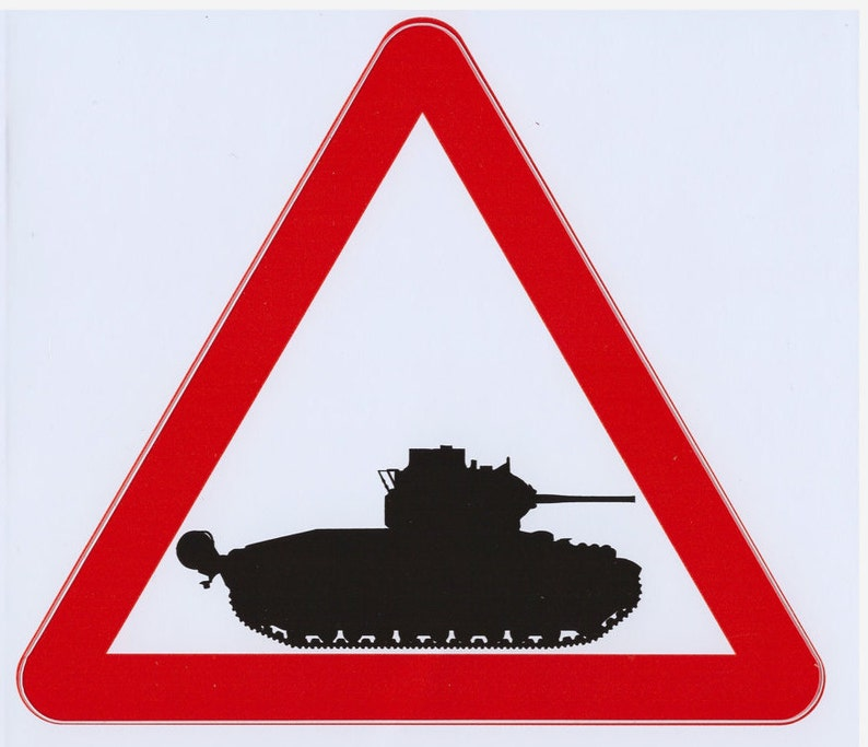 Matilda Panzer Warnung Rotes Dreieck Vinyl Aufkleber Tank Aufkleber Matilda Tank Vinyl Aufkleber Matilda Tank Aufkleber