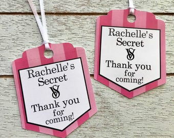 Victoria's Secret Personalized Favor Tags