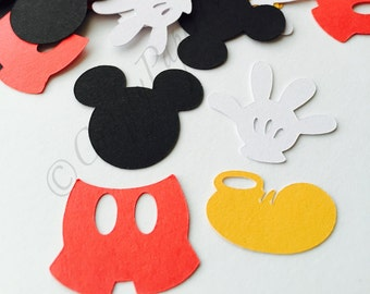 200pc Mickey Mouse Inspired Party Confetti