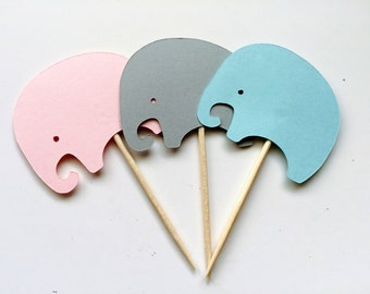 Elephant Cupcake Topper (12pcs)