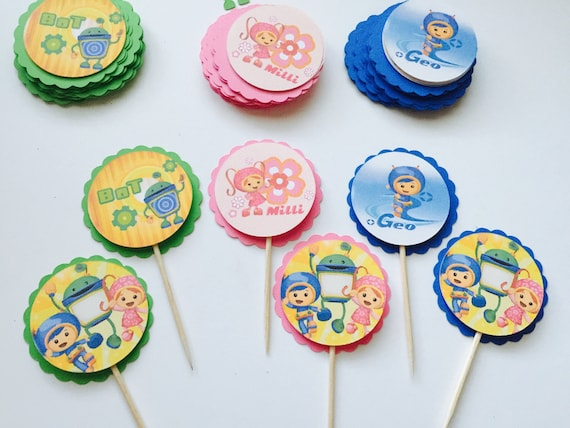Team Umizoomi Cupcake Toppers
