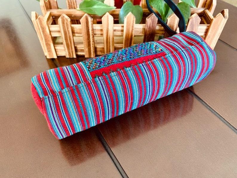 Guatemalan Beautiful Pencil Makeup Bag Handcrafted Vibrant Colors