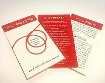 Blessed Little Red String Bracelet - 1 quantity