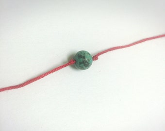 Blessed Little Red String Bracelet with Mala Bead - 5  quantity