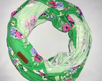 Travel Tube Blanket, Airplane Blanket, DBP Green Floral
