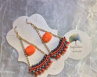 Satsuma chandelier  earrings