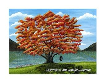 Tree Painting, Tree Art Decor, Fall Tree Art Prints, Tree Wall Art, Tree Art, Gifts for her, Tree Wall Decor, Fall Wall Decor, Autumn Prints