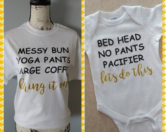 Mom and Baby Bundle/ Matching Mom and Daughter Outfit/ Personalized