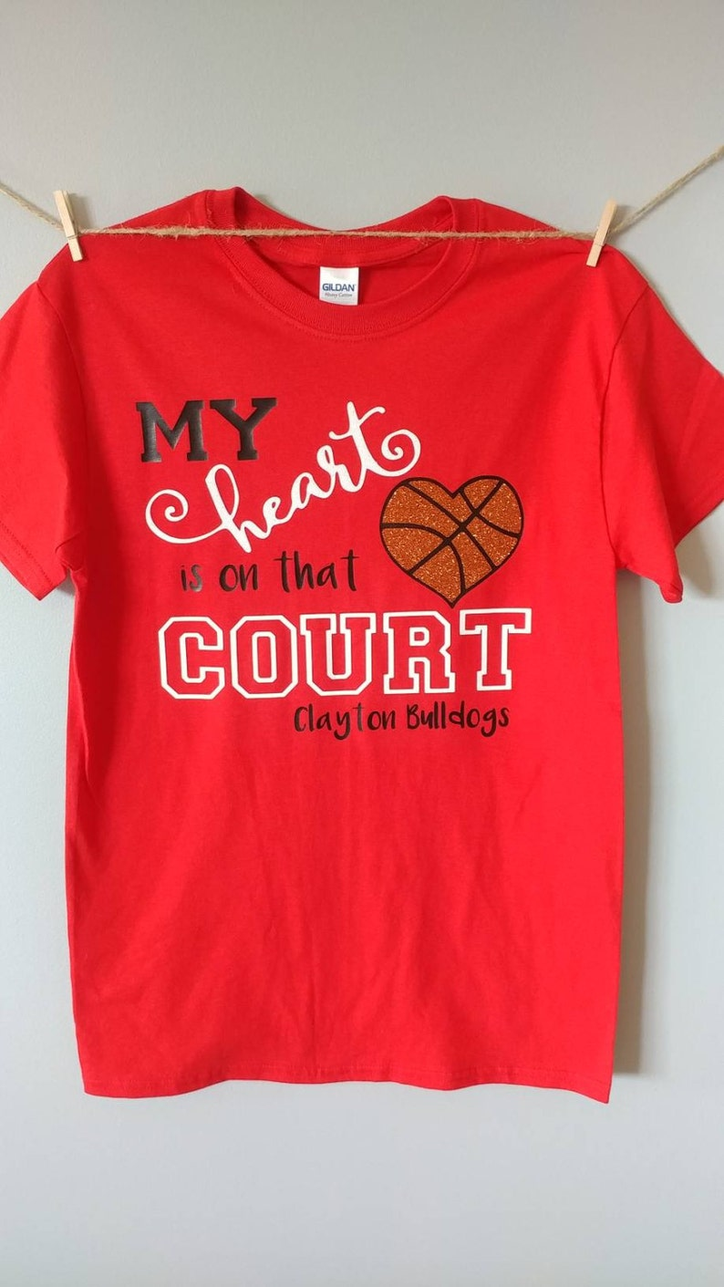144c9ebe99 My Heart is on that Court/Field / Sports Mom Shirt/   Etsy