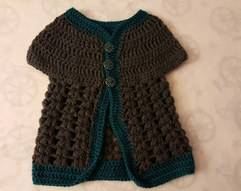 Crochet Baby Cardigan Sweater