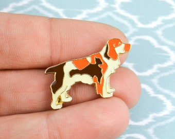 Pin's chien - Pin's animal - Pin's vintage années 80 - broche de col, bijou de col - Broche émail - Broche grunge - funky - Pin's rock