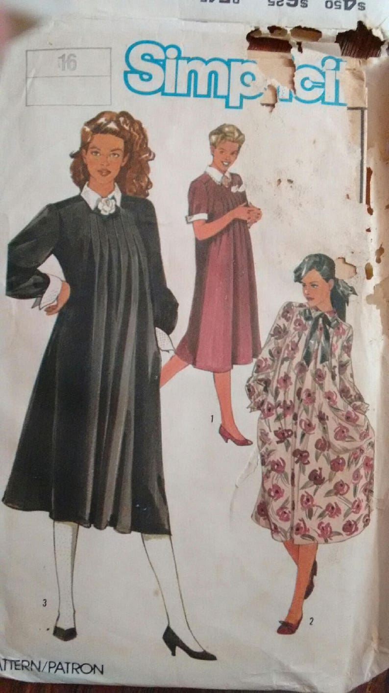 5f6aee8857898 VINTAGE MATERNITY Dress pattern simplicity 6653 formal LADY Di | Etsy