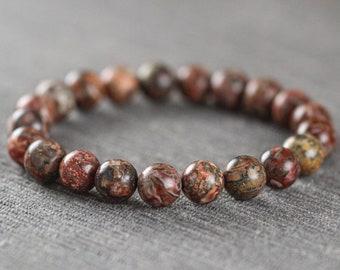 Black Leopardskin Jasper Gemstone Button Beads 78648