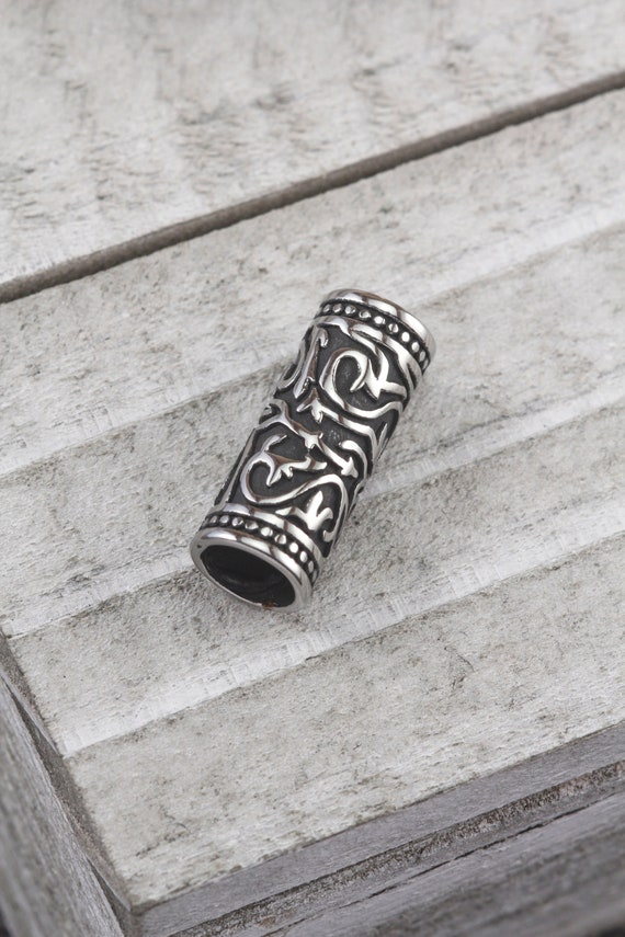 Stainless Steel Hollow Fleur-de-lis Tube 35.5mm x 12.5mm Spacer Bead Hole 9mm