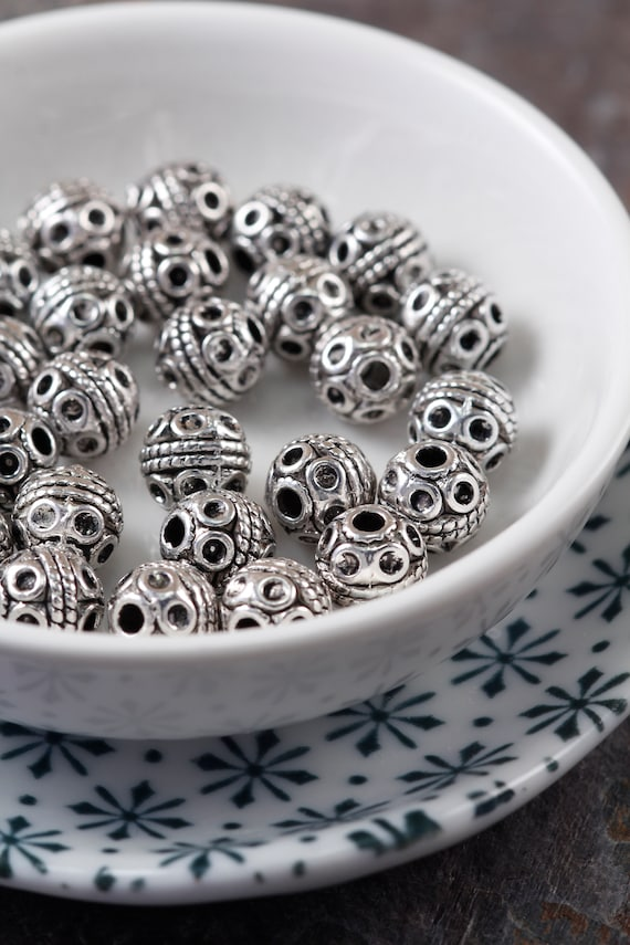 Lots Antique Tibetan Silver Circle Spacer Loose Beads Ring Jewelry Finding 8 mm